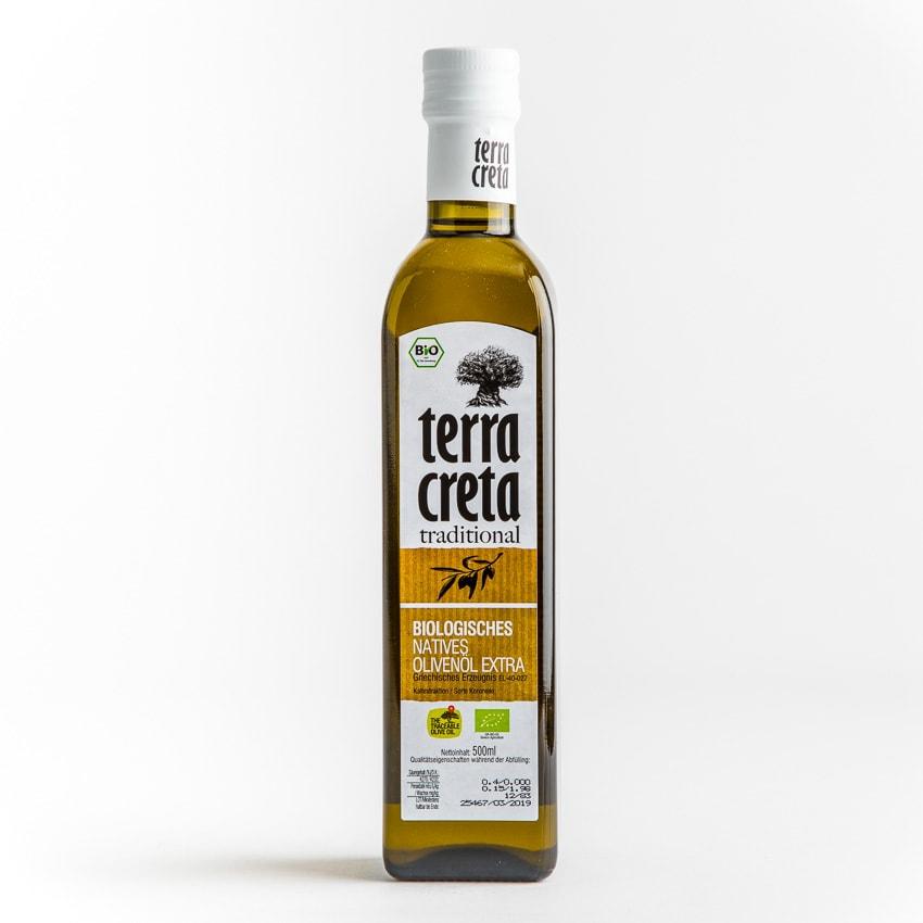 Terra Creta klassik Bio-Olivenöl Extra Nativ 500ml Online Shop Feinkost