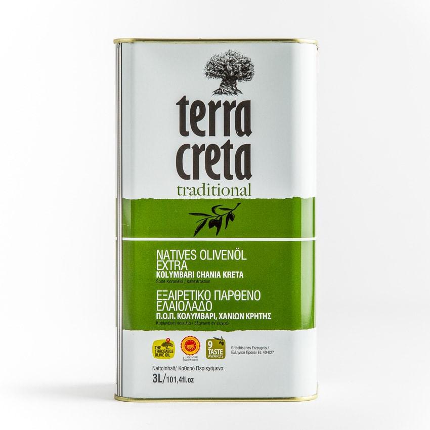 Terra Creta klassik Olivenöl Extra Nativ 3l Kanister online bestellen